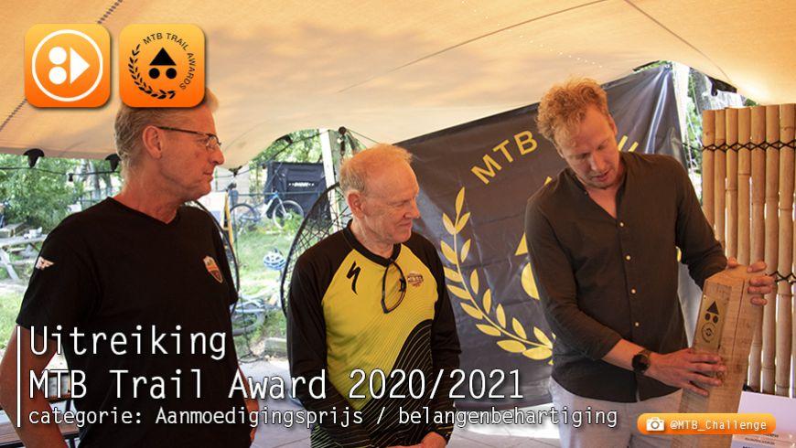 Uitreiking MTB Trail Awards - categorie: Aanmoedigingsprijs / Belangenbehartiging 2020/2021