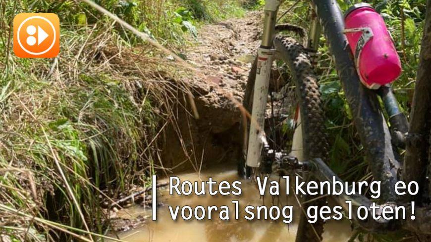 MTB routes Valkenburg eo blijven vooralsnog gesloten