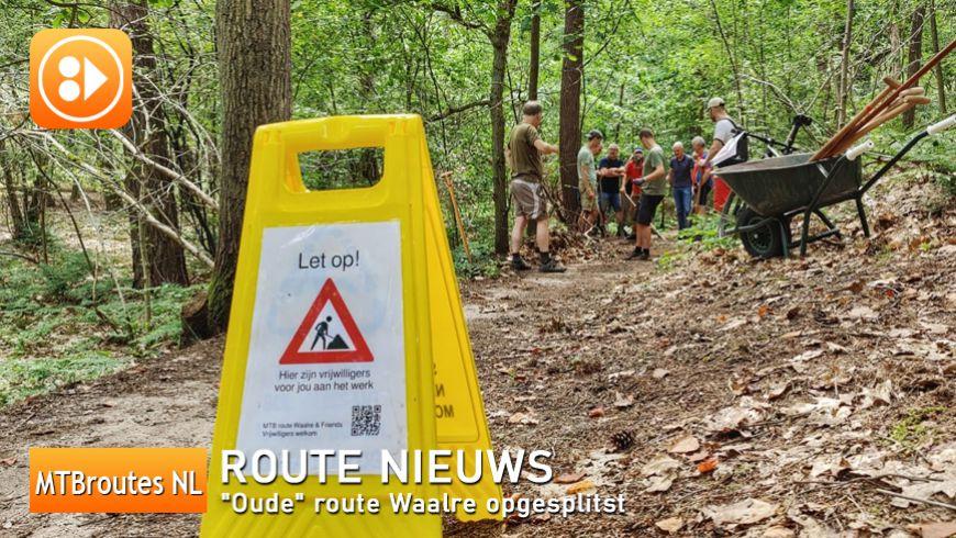 """""""Oude"""" route Waalre opgesplitst!"""