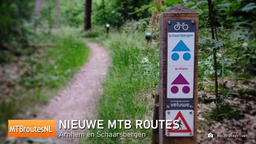 Twee nieuwe MTBroutes: Arnhem en Schaarsbergen
