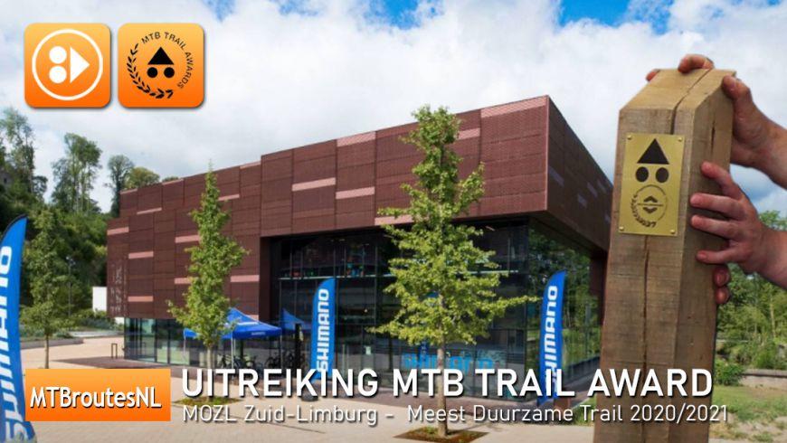 Uitreiking MTB Trail Awards - categorie: Meest duurzame MTB Trail 2020/2021