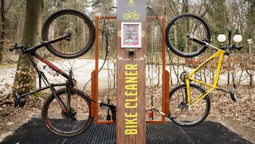 Steeds meer Bike Cleaners bij vaste MTB Routes