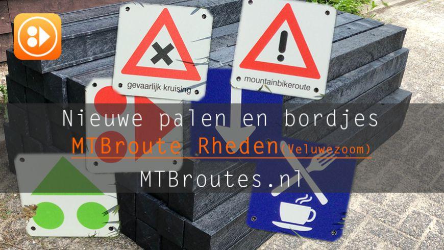 MTBroute Rheden heeft nieuwe palen en bordjes