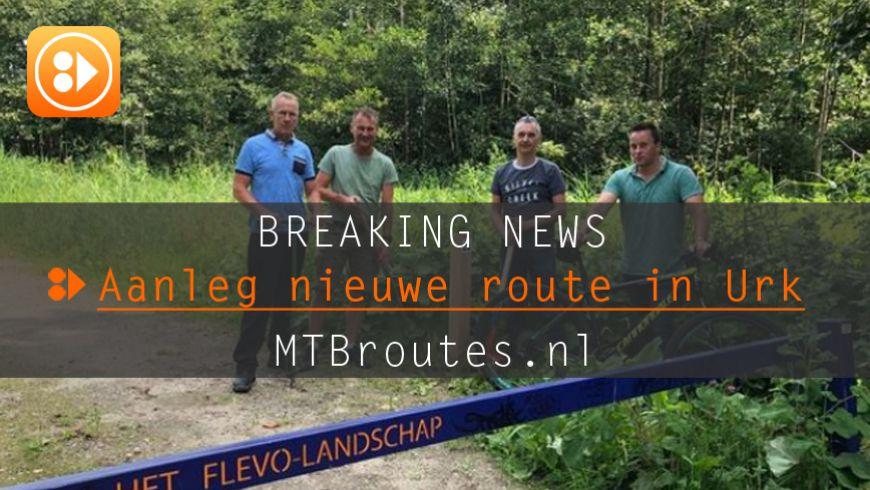 WV Urk begint met aanleg route in Urker bos