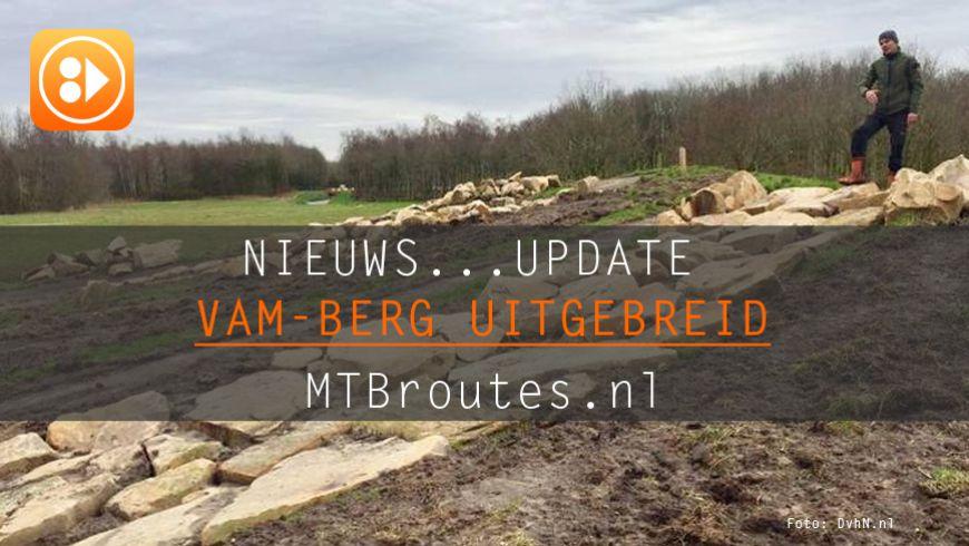 VAM-berg uitgebreid met nieuwe MTB routes, bikepark, ruiter- en wandelpaden