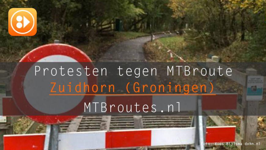 Protesten tegen mtb-route in Zuidhorn zwellen aan