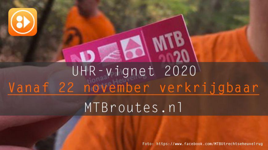 UHR-vignet 2020 vanaf 22 november verkrijgbaar