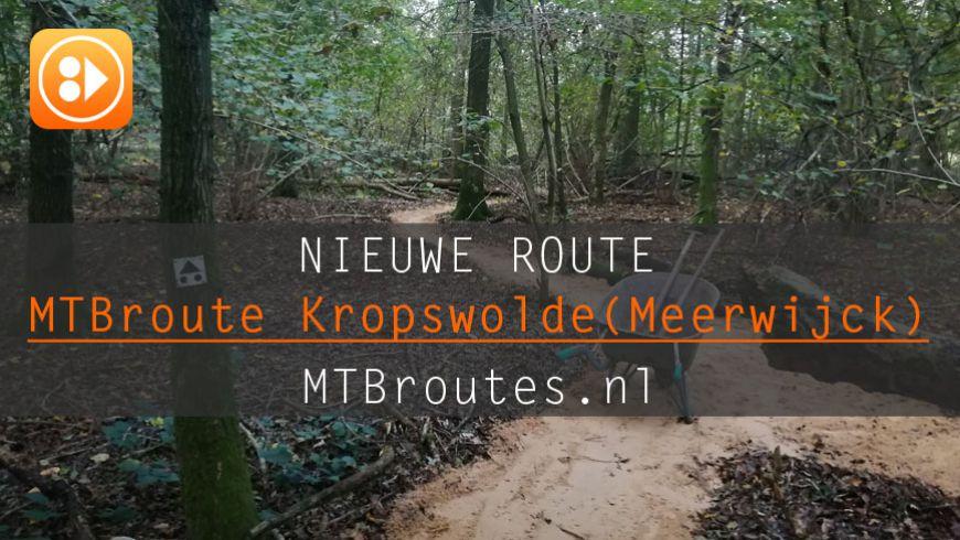 Nieuwe MTBroute Kropswolde (Meerwijck)