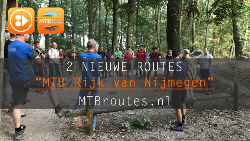 Twee routes MTB Rijk van Nijmegen online
