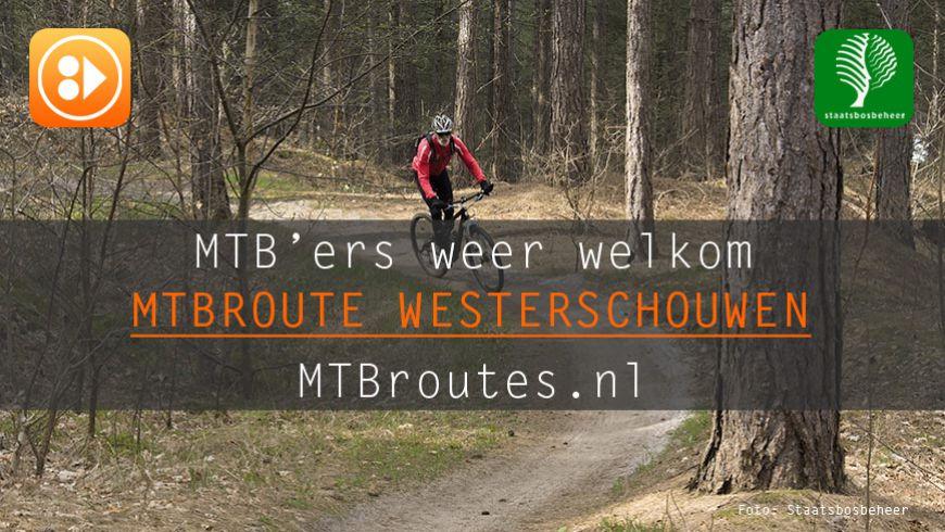 Mountainbikers weer welkom in Boswachterij Westerschouwen