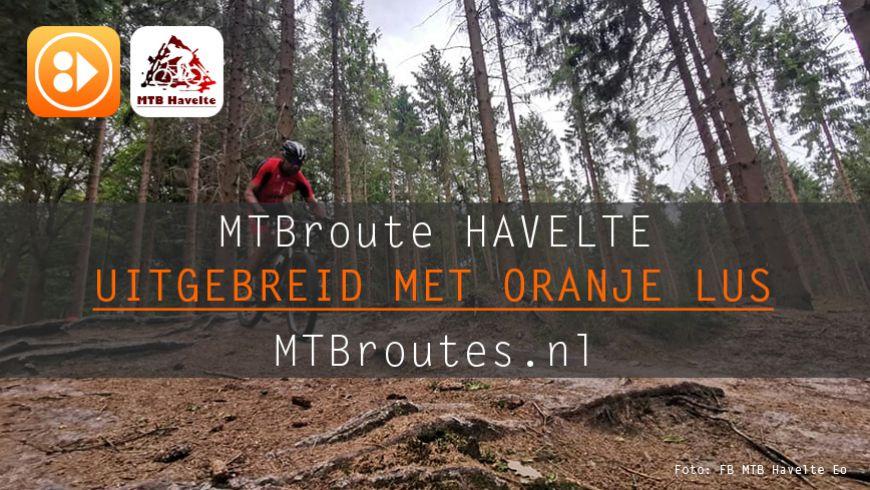 MTBroute Havelte uitgebreid met oranje lus