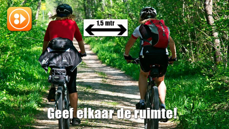 Mountainbiken met maatregelen